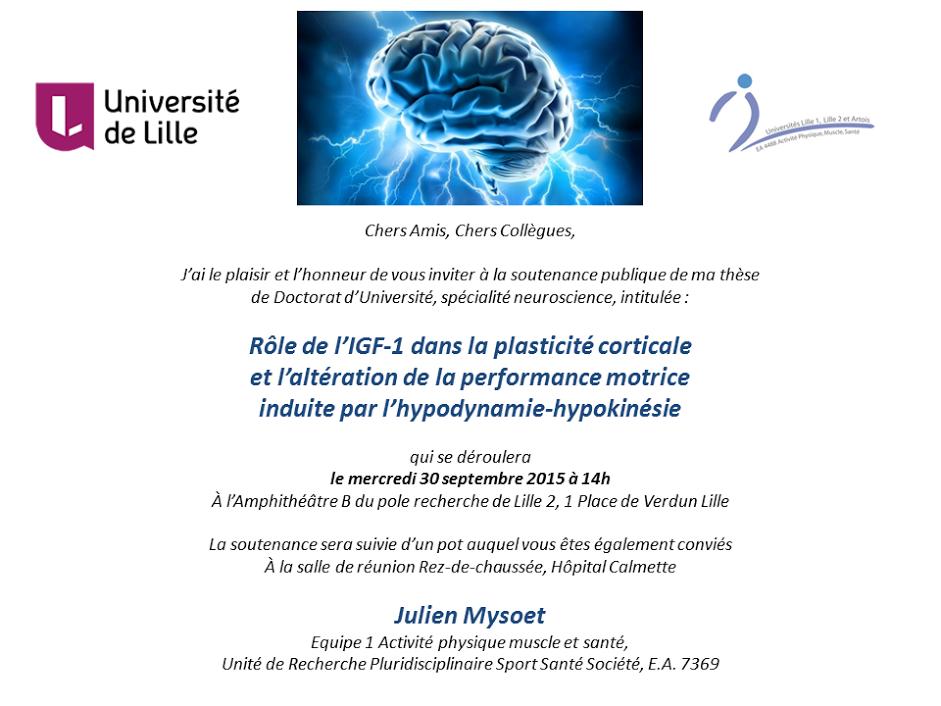 Rôle de l'IGF1 dans la plasticité corticale et l'altération de la performance motrice induite par l'hypodynamie, hypokinésie 2
